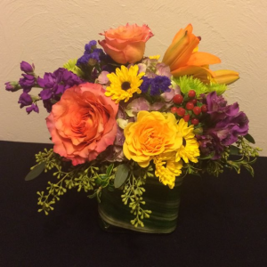 Cheerful Smiles Vase Arrangement in Boise, ID | HEAVENESSENCE FLORAL & GIFTS