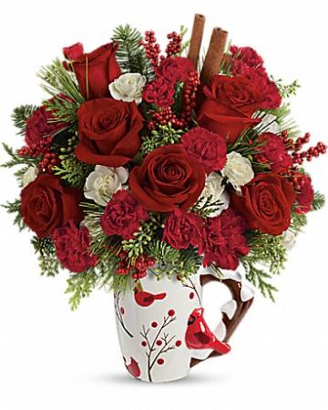 Cheerful Wishes Christmas Arrangement