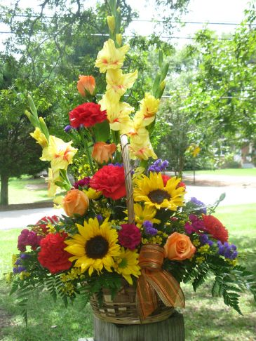 Cheerfully Fall Basket Design by Buds 'n Bows