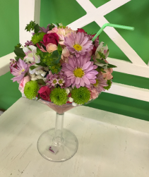 Cheers! floral martini