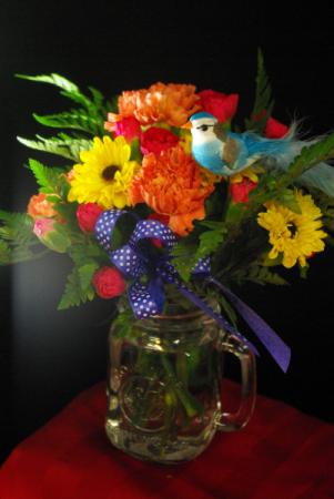 Cheers! Mixed floral arrangement