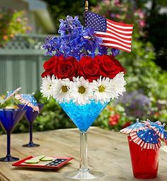 Cheers to the Red, White and Blue™  in Valley City, OH | HILL HAVEN FLORIST & GREENHOUSE