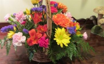 Cheery Basket of Blooms Inspirations Original Design