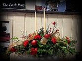 Cheery Red Table Centerpiece Holiday