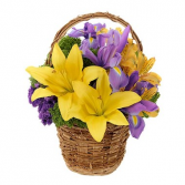 Cheery Spring Basket Arrangement