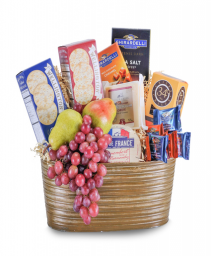 Cheese, Cracker and Fruit Delight Basket