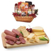 Cheese, Crackers and Sausage Gift Basket