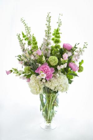 Spring in the garden Tall vase arrangement