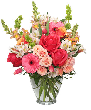 Cherish Spring Vase of Flowers in Monroe, NC | MONROE FLORIST & GIFTS