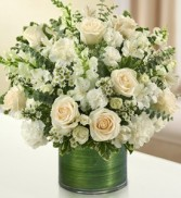 Cherished Memories - All White Fresh Arrangement
