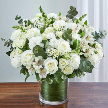 Cherished Memories™ All White Sympathy Arrangement
