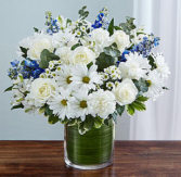 Cherished Memories™ Blue & White Sympathy Arrangement