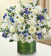 Cherished Memories Blue & White Vase Arrangement