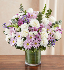 Cherished Memories™ Lavender & White Sympathy Arrangement