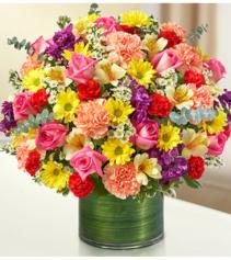 Cherished Memories™ Multicolor Bright Sympathy Arrangement