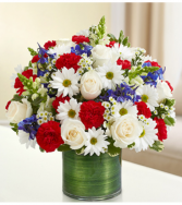 Cherished Memories - Red, White and Blue Arrangement