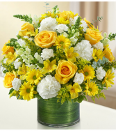 Cherished Memories™ Yellow and White Sympathy Arrangement