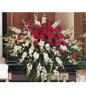 Cherished Moments Casket Spray  Casket Arrangement in Vienna, WV | All In Bloom Floral and Gifts