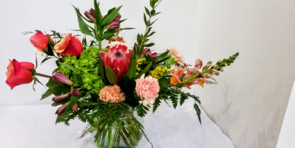 Cherry and Peach Mixed Bouquet