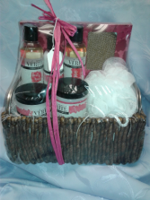 Cherry Blossom Spa Basket Birthday