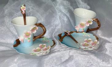 Cherry Blossom Tea Cup Garden Tea Set