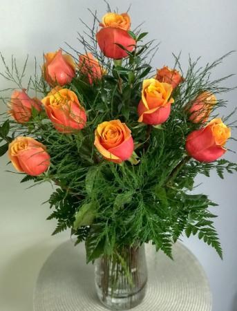 Cherry Brandy Rose Bouquet