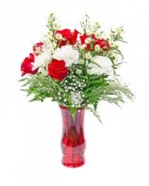 Cherry Crisp Bouquet Versatile arrangement for Christmas, Valentine's Day and More!