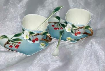 Cherry Tea Cup Garden Tea Set