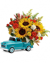 Chevy Pickup Bouquet Blooms for Him