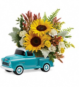 Chevy Pickup Bouquet       T18F100 Keepsake Arrangement