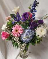 Summer Flowers mixed in a vase! Flowers may vary  if same day delivery.