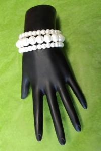 Chic Pearl Bead Wrist Corsage Band