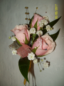 Chic Pink Prom Boutonniere