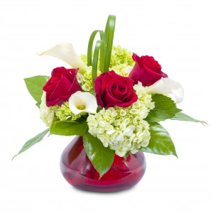 Chic Romance Arrangement in Burnt Hills, NY   THE COUNTRY FLORIST