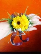 Sunshine Crush Wrist Corsage