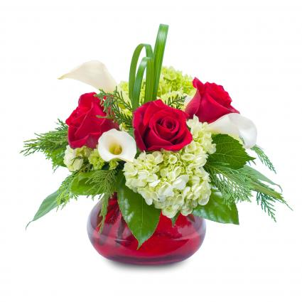 Chic Winter Romance Floral Arrangement