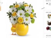 Chickadee Fresh flowers in keepsake chick