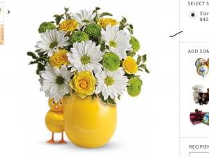 Chickadee Fresh flowers in keepsake chick in Fairfield, OH | NOVACK-SCHAFER FLORIST