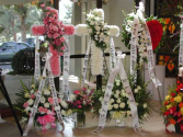 CHINEESE FUNERAL SPRAYS AVAILABLE CHINEESE CALLIGRAPHY RIBBONS TOO!!