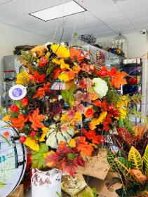 Chinese Lantern Wreath