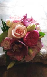 Chique Botanique Pink Handtied Bouquet