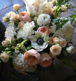 Chique Botanique Peach Vase Arrangement  in Toronto, ON | BOTANY FLORAL STUDIO