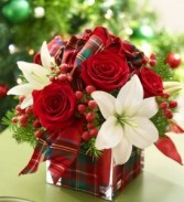 Christmas Present Bouquet $45.95, $50.95, $55.95