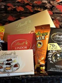 CHOCOLATE FANTASIES IN A BASKET