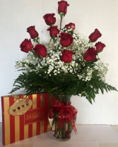 Chocolate and Roses combo