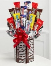 Chocolate Candy Vase Candy Bouquet Valentine's Day