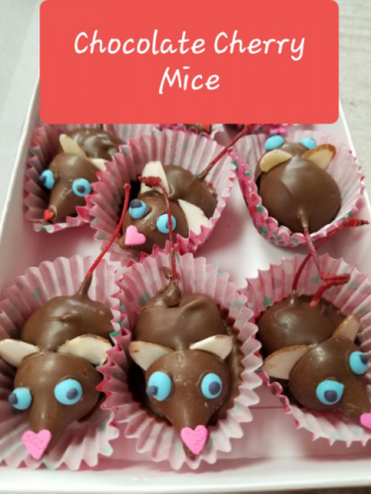 Chocolate Cherry Mice Now available to add on to your order!