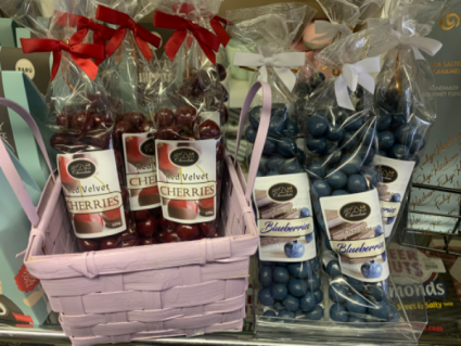 Chocolate covered  Cherries or Blueberries