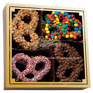 Chocolate Covered Pretzels 12 oz. Gourmet Chocolate   LOCAL DELIVERY ONLY in Southampton, PA | Cherry Lane Flower Shop