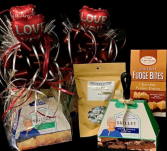 Chocolate Delight Gift Basket with Cookie, Fudge and Kisses